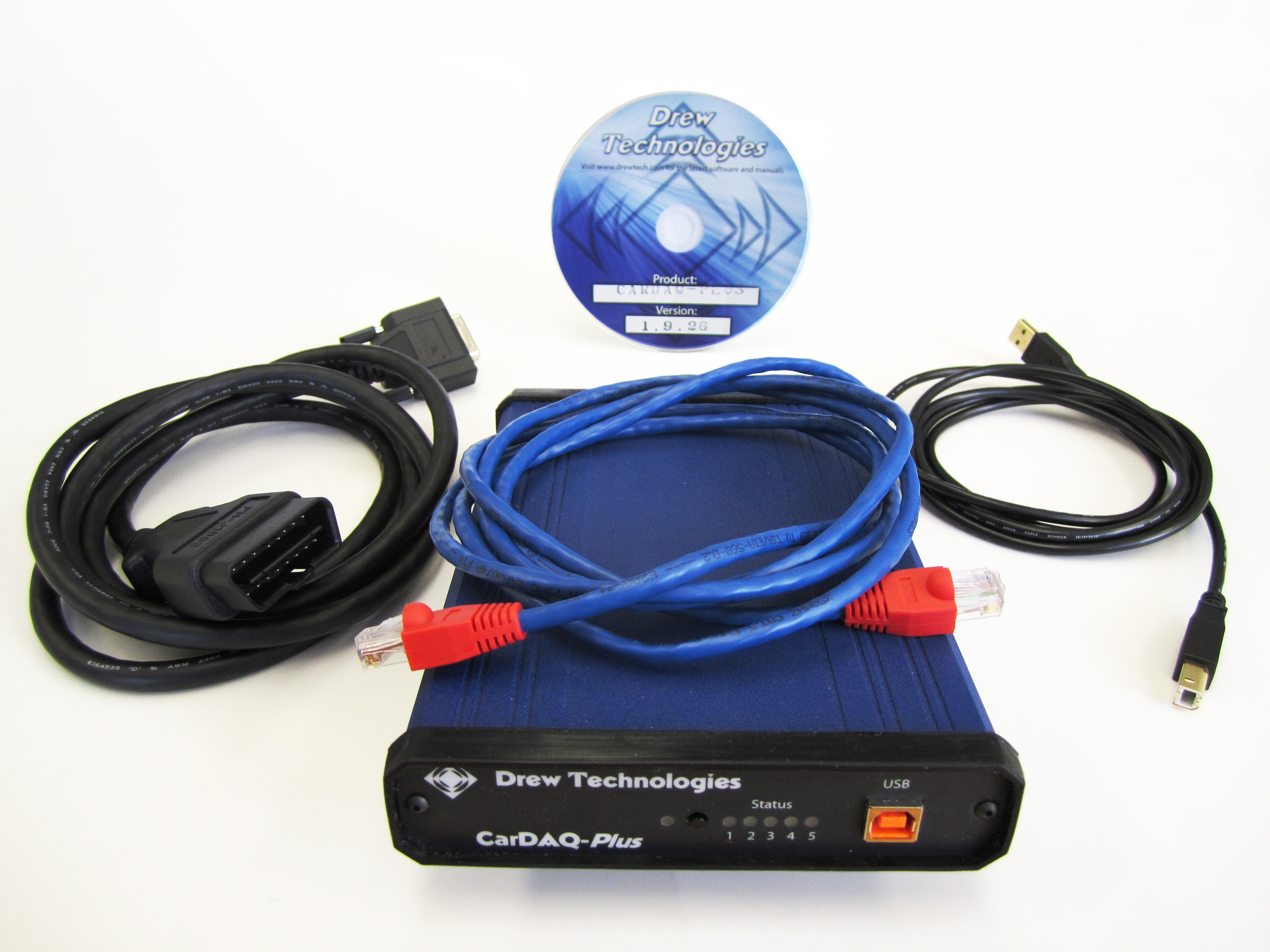 CarDAQ-Plus-Kit with OBD2 cable, Drew Technologies