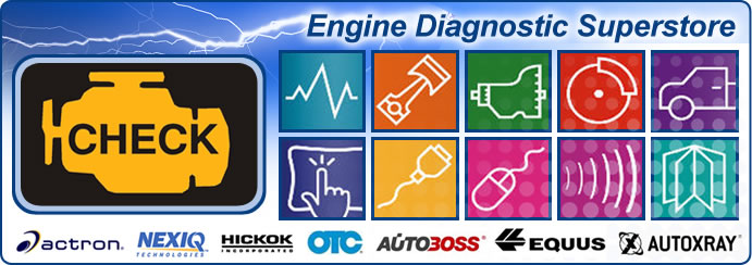Engine Diagnostic Superstore - Actron - NEXIQ - HICKOK - OTC - AUTOBOSS - EQUUS - AUTOXRAY